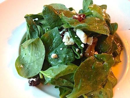 Spinach  and Amaltheia feta salad at Rainbow Ranch Restaurant
