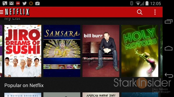 Netflix on the Nexus 5