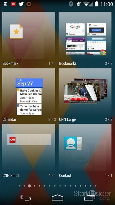 Android KitKat Widgets