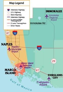 Map of Paradise Coast