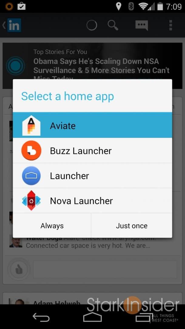 Yahoo Aviate App Review on Nexus 5