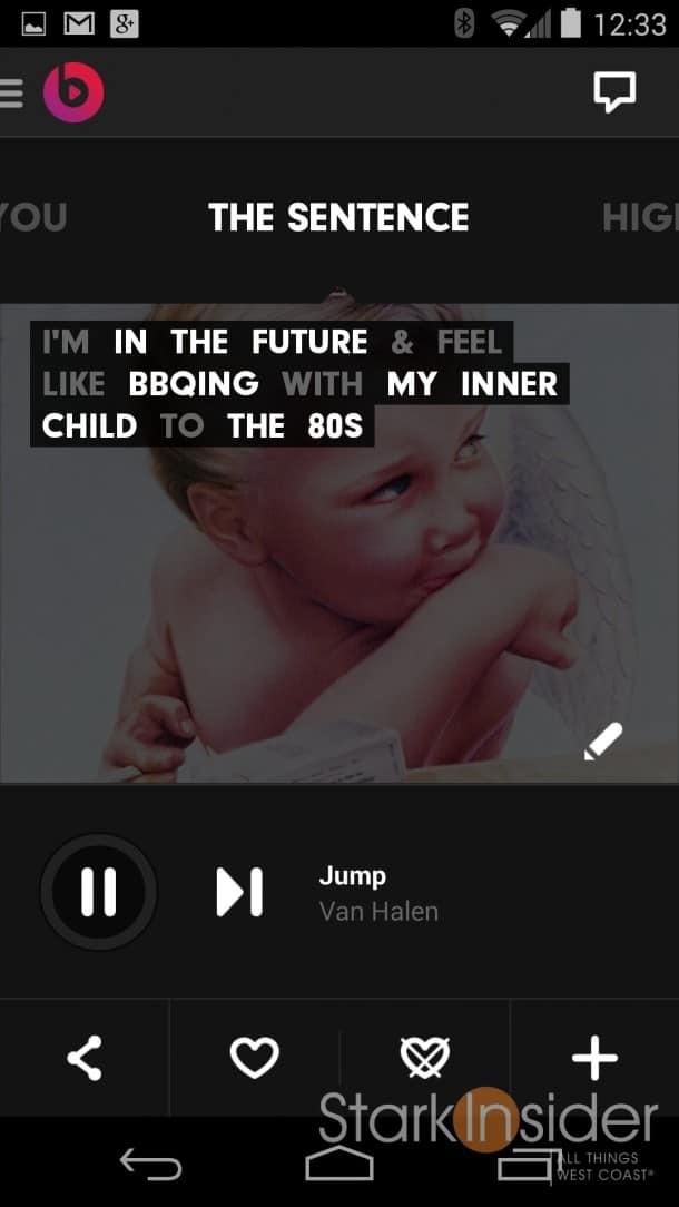 Beats Music, The Sentence - Stark Insider