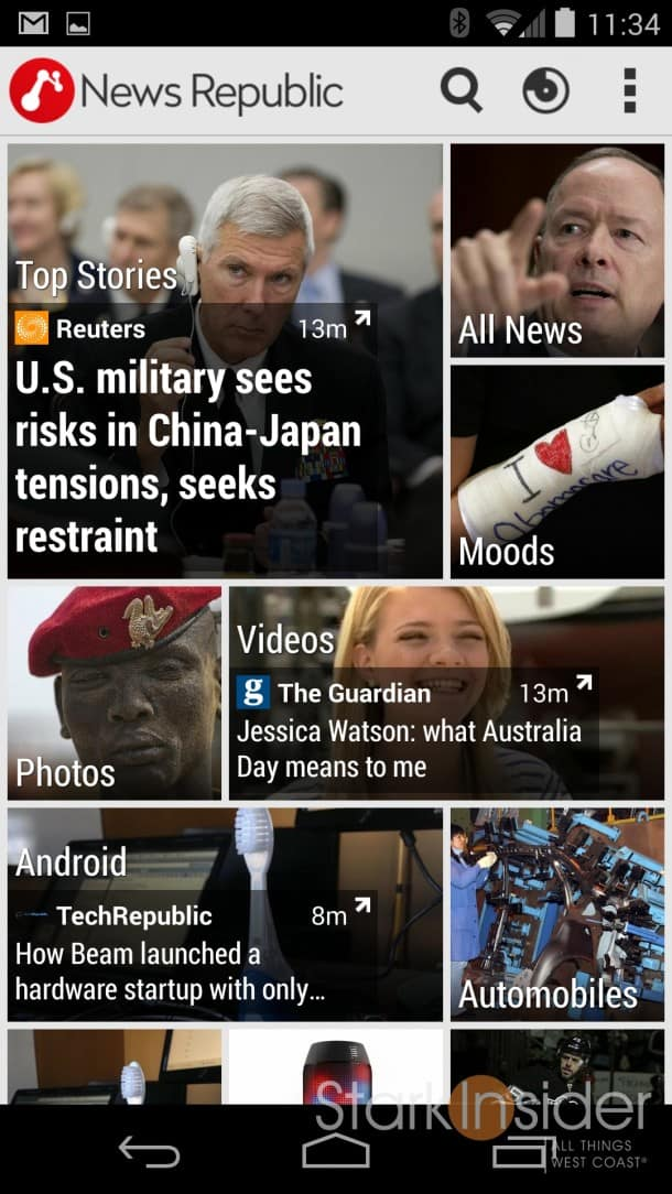News Republic app for iOS and Android