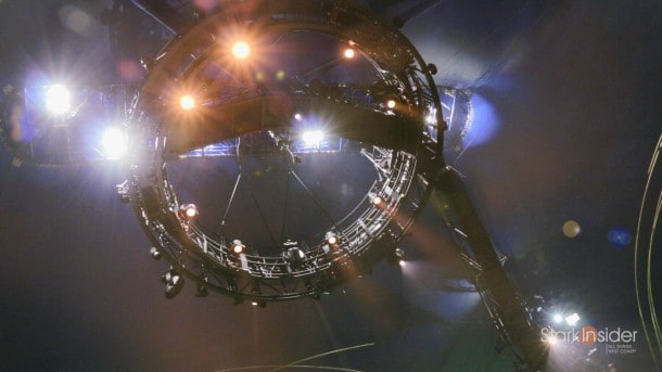Lighting for Amaluna. Something you might see on the set of a Hollywood blockbuster - or possibly an alien spacecraft.