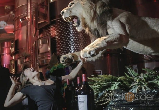 Loni Stark and the Lion at Raymond Vineyard