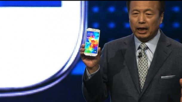 It's here. And it's about as safe as it gets. Samsung Mobile Chief J.K. Shin unveils the Galaxy S5 smartphone.
