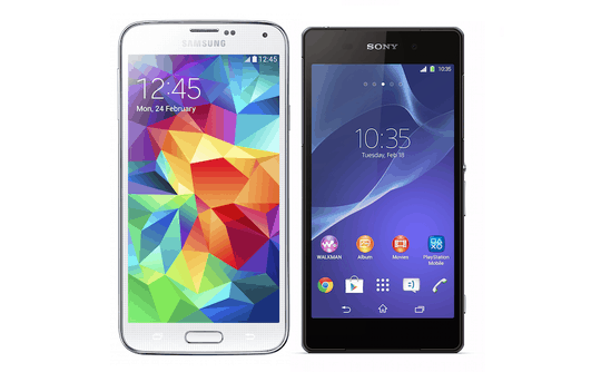 Adroid everywhere. Two of the stars at MWC 2014 were the Samsung Galaxy S5 and the Sony Xperia Z2. I'll take the Z2. Gorgeous.
