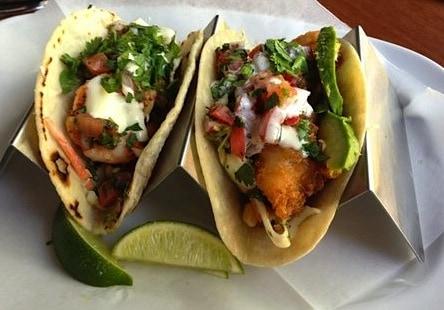 Joyride's fish tacos