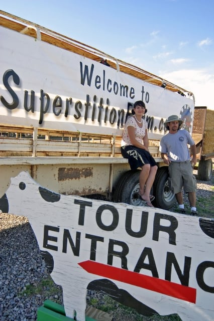 Casey and Alison welcome you to Superstition Farm