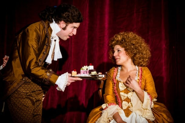 Aidan O'Reilly and Roneet Aliza Rahamim in 'Amadeus' at City Lights Theater Company in San Jose.