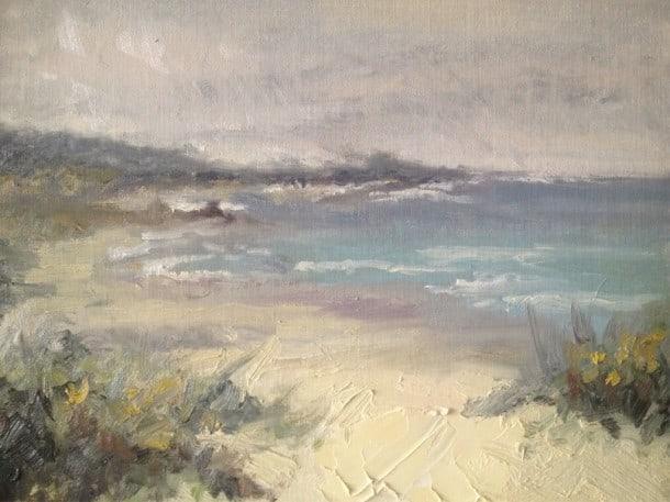 Painting of Asilomar Beach, Monterey