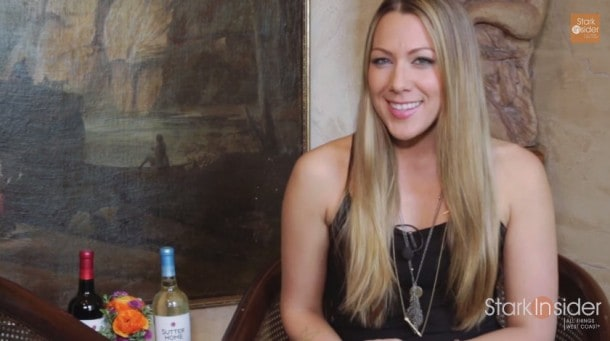 Singer Colbie Caillat gave me a great Stark Insider plug after our interview. I reframed the shot in post to remove the host who was visible on the left. That results in slight loss of quality. With 4K that would be a non-issue.