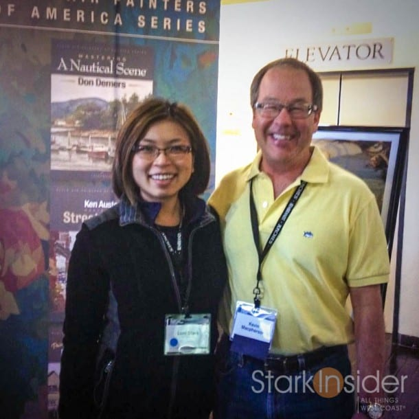 Kevin Macpherson at Plein Air Conference & Exhibition in Monterey, California