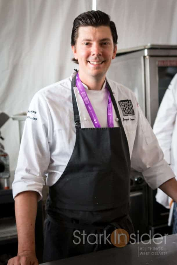 Chef Joseph Lenn of Blackberry Farm stops for a quick smile during the course of lunch.