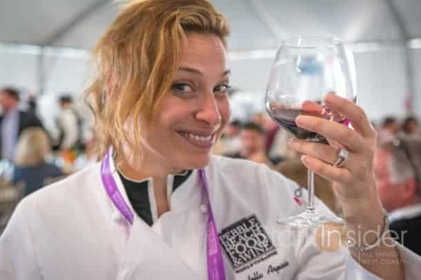 A lot goes on during a Lexus Chef's Table Lunch including a surprise visit from Chef Donatella Arpaia who had just finished a demo earlier. Salut!