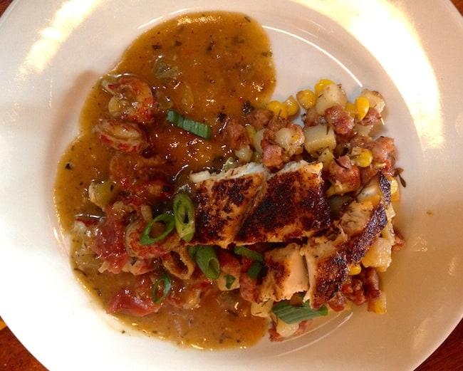 Chef Mark Daniel's redfish over andouille hash is a winner