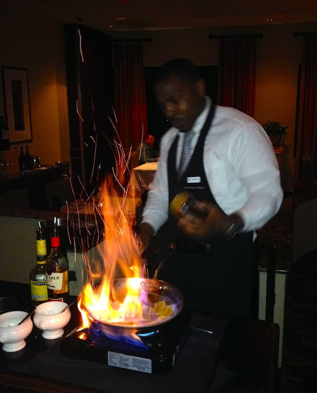 Kendell makes the best Bananas Foster