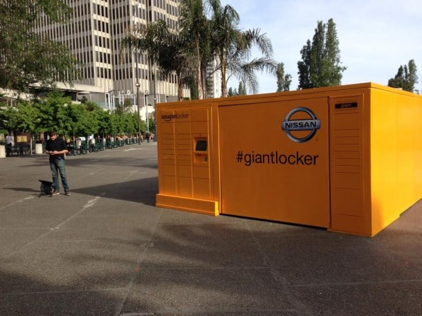 Amazon delivers Nissan Rogue car using locker