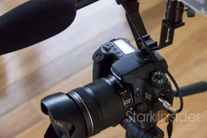 Canon EOS 70D with Sennheiser MKE600 Shotgun Microphone