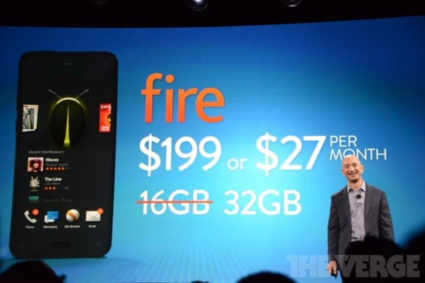 Amazon Fire Phone pricing