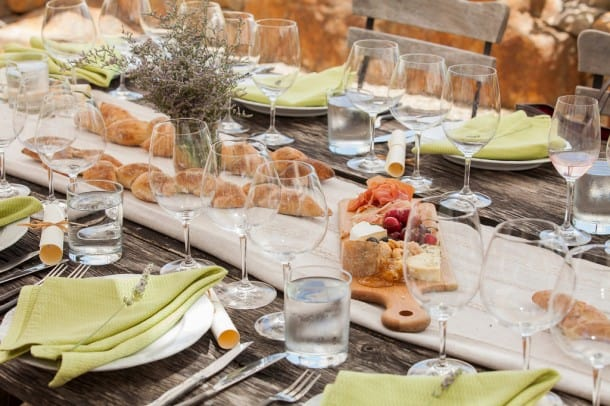 Guests enjoyed a family-style meal prepared by famed Dry Creek Kitchen. Photo by Jason Tinacci for the Napa Valley Vintners.