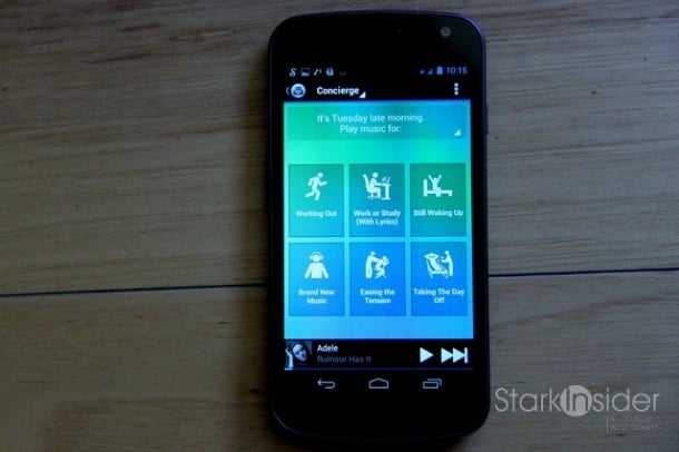 Songza Music Streaming