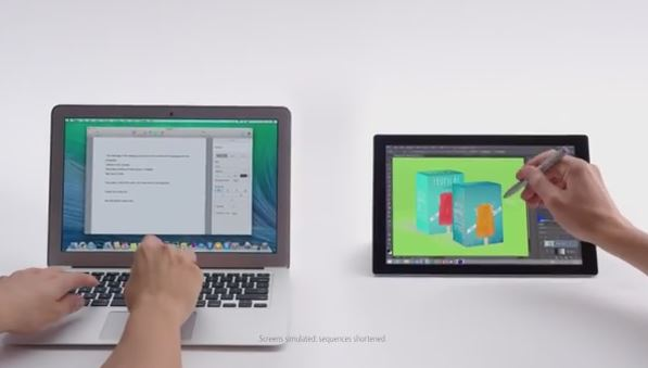MacBook Air versus Surface Tablet ad