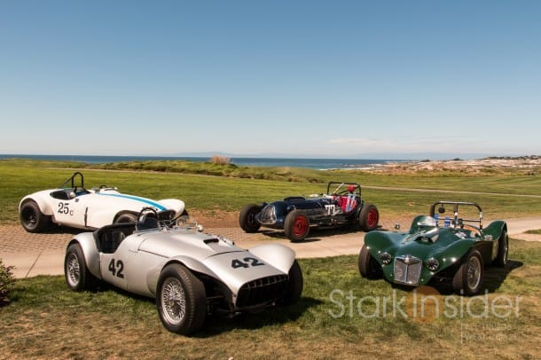 Pebble Beach Racing Cars on display at Concours