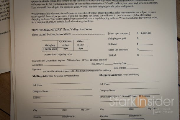 2009 Promontory Napa Valley Red Wine - Prices