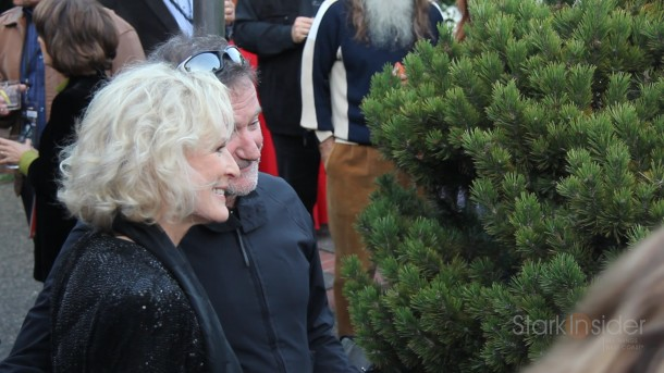 Robin Williams with Glenn Close at Mill Valley Film Festival in 2011