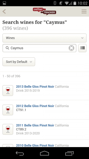 CellarTracker App Review - Search wines