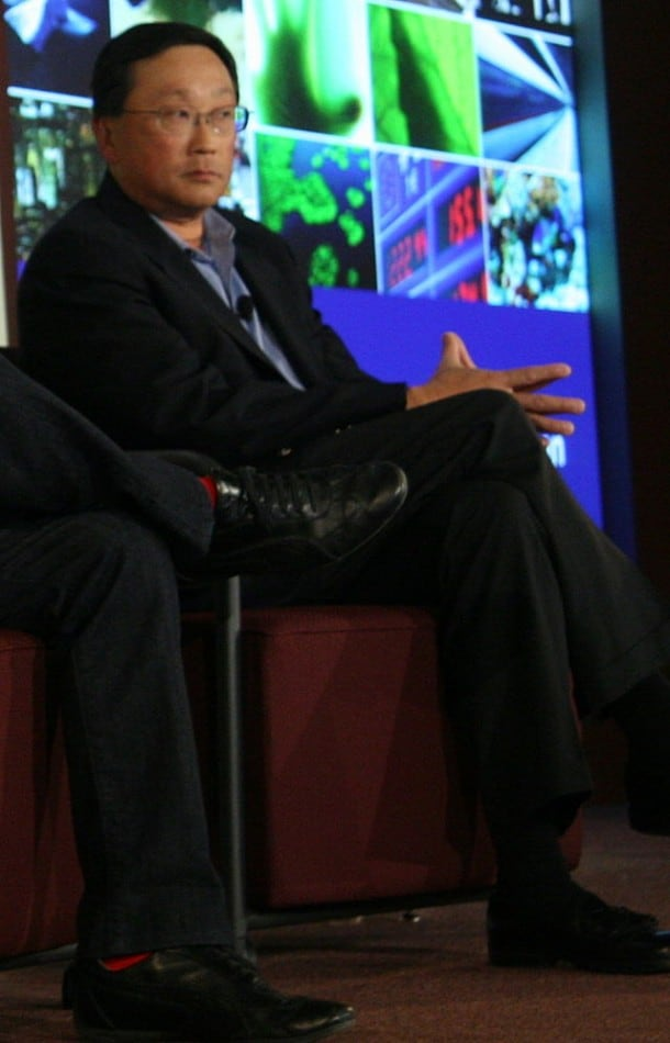 New CEO John Chen. He fixed up Sybase. Can he do the same at Blackberry?