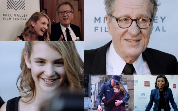 Sophie Nélisse and Geoffrey Rush at Mill Valley Film Festival in support of THE BOOK THIEF.