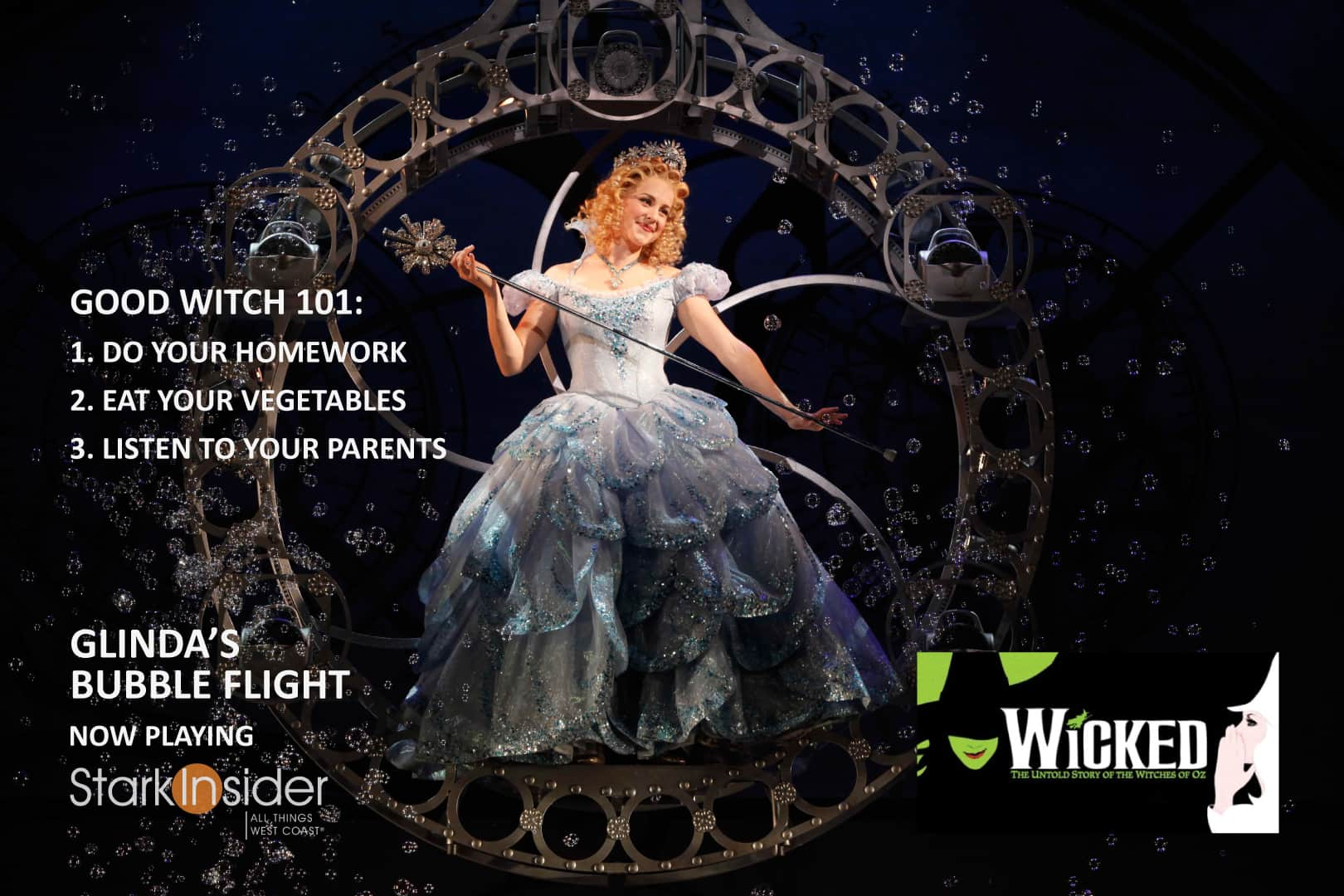 'Wicked' Backstage Broadway: Floating in Glinda's Bubble ...