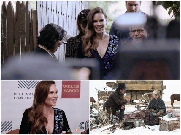 Hilary Swank charmed the press and fans alike when she attended MVFF for a screening of 'The Homesman'.