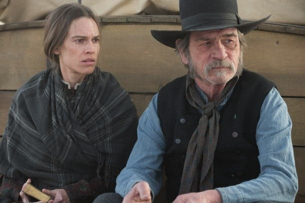 Hilary Swank and Tommy Lee Jones in The Homesman - Mill Valley Film Festival (Video)