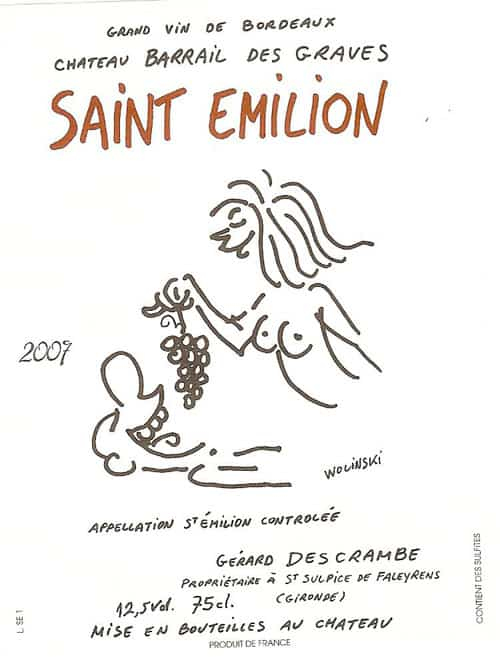 Charlie Hebdo Wine Label