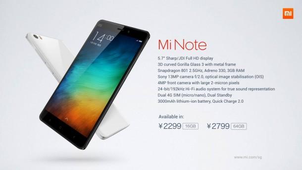 Xiaomi-MiNote-Specs