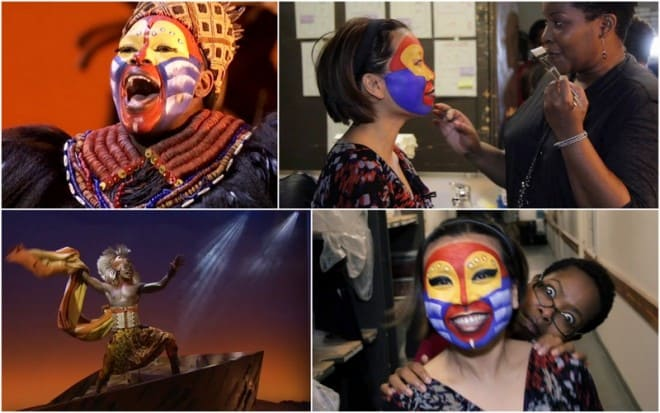 Backstage: Lion King musical with Rafiki (Buyi Zama)