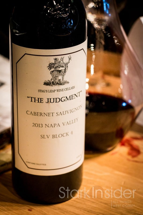 "Premiere Napa Valley Stag's Leap Wine Cellars ""The Judgment"""