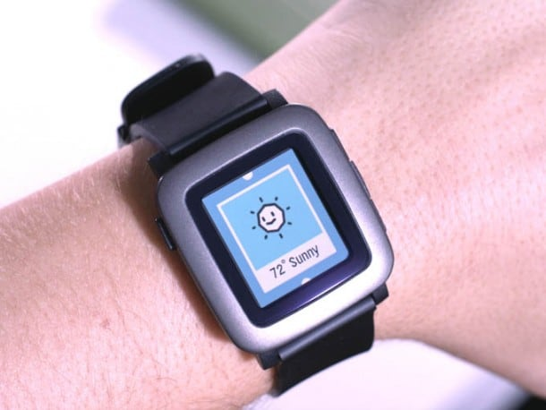 Pebble Time Smartwatch with e-paper color display