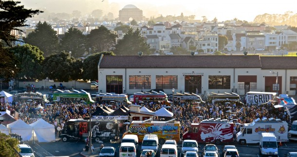 Off the Grid - food trucks at Fort Mason, San Francisco