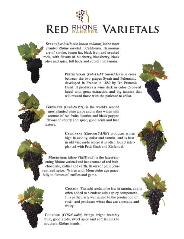 Red Rhone Grape Varieties