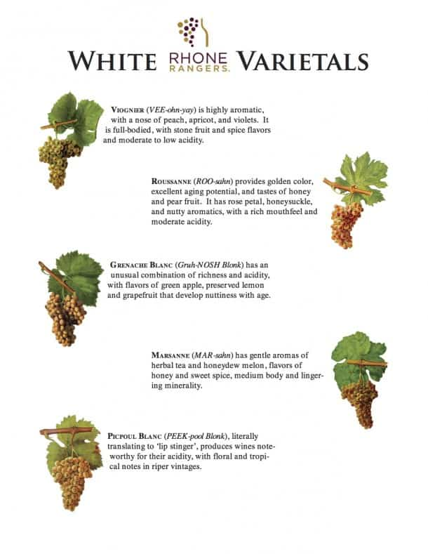 Rhone White Grape Varietals