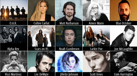Yountville Live - Scheduled Acts 2015