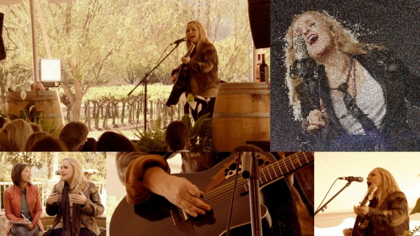 Grammy winner Melissa Etheridge rocked Napa at the Live in the Vineyard music festival.