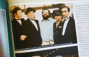 Francis Ford Coppola on the set of The Godfather.