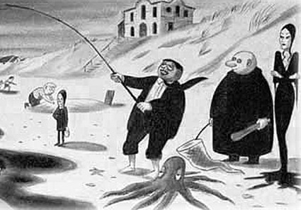 The Addams Family on a fishing expedition.