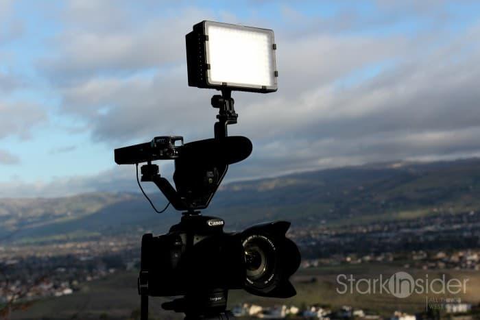 Neewer LED Light Panel on Canon DSLR