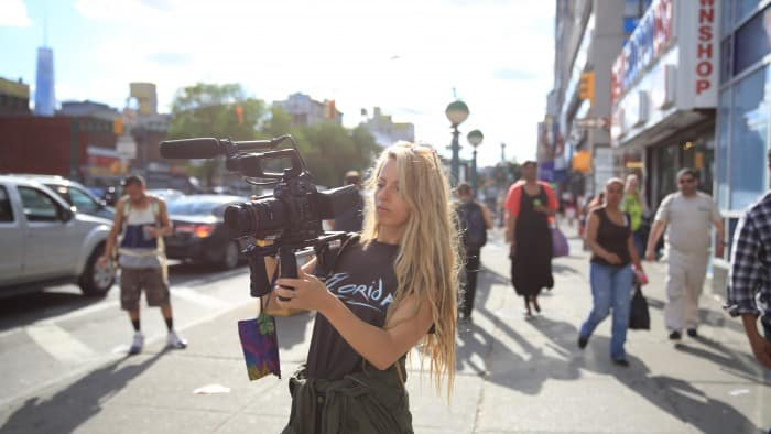 Wolfpack director Crystal Moselle with Canon C100 filming